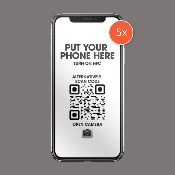 5 Pack Iphone Sticker