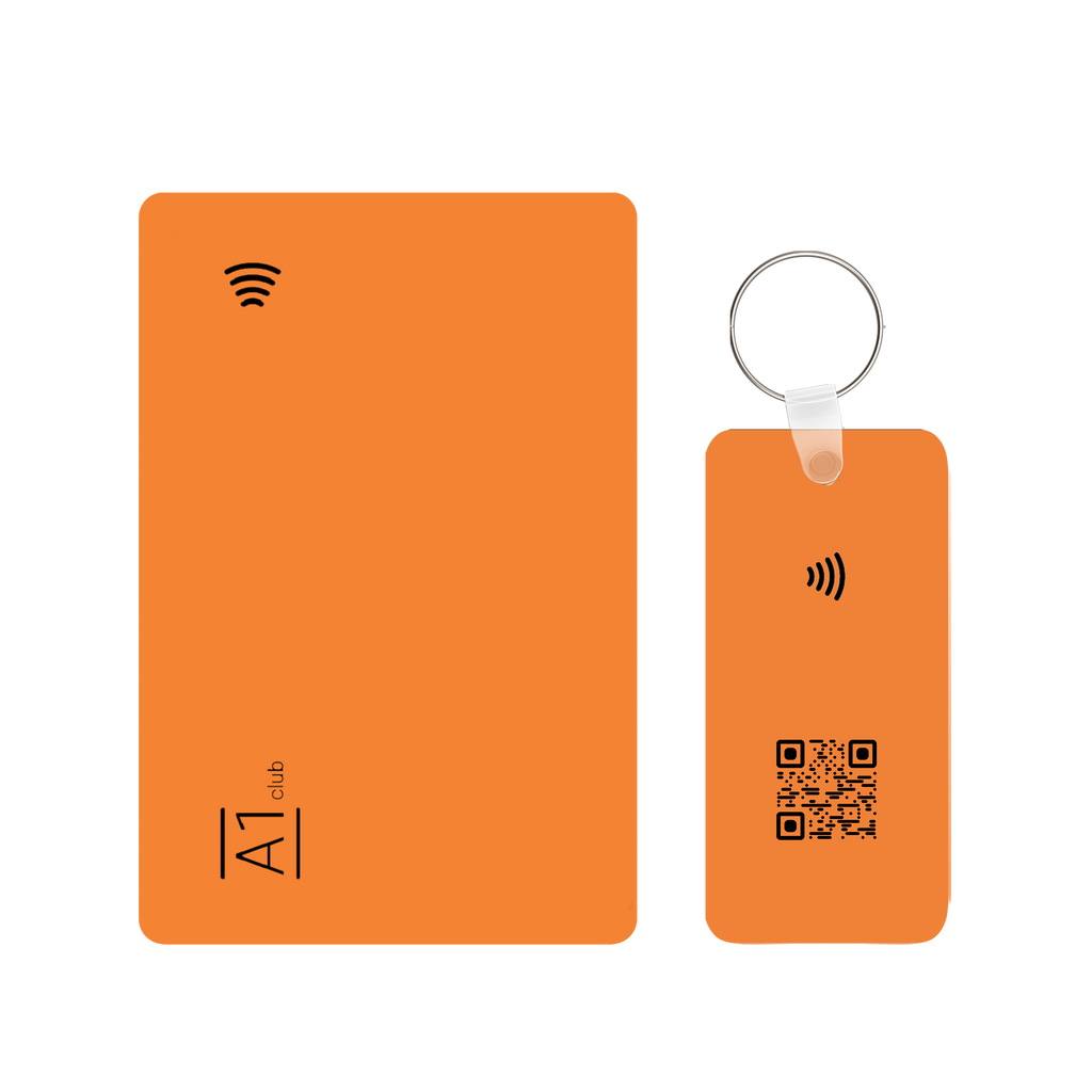 A1 Classic Card & Key Rings - Orange & Black