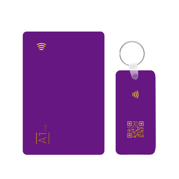 A1 Classic Card & Key Rings - Purple & Gold