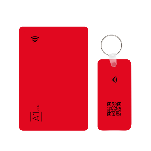 A1 Classic Card & Key Rings - Red & Black
