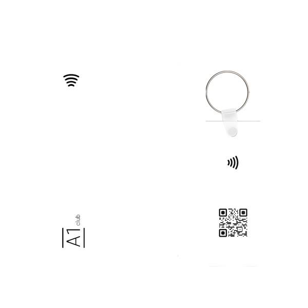 A1 Classic Card & Key Rings - White & Black