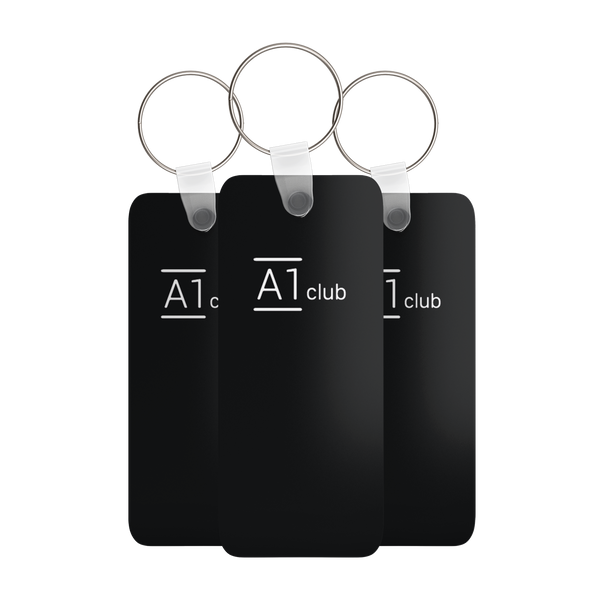 A1 Classic Key Rings - Black & White