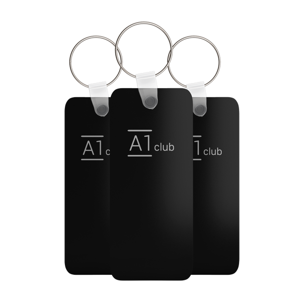 A1 Classic Key Rings - Black & Silver