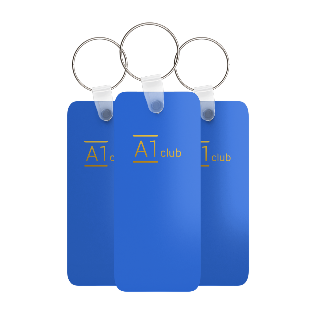 A1 Classic Key Rings - Blue & Gold