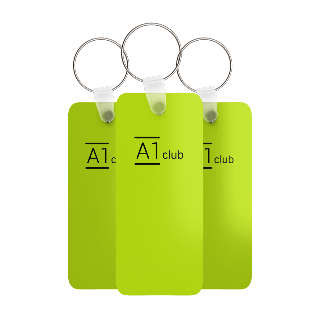 A1 Classic Key Rings - Green & Black