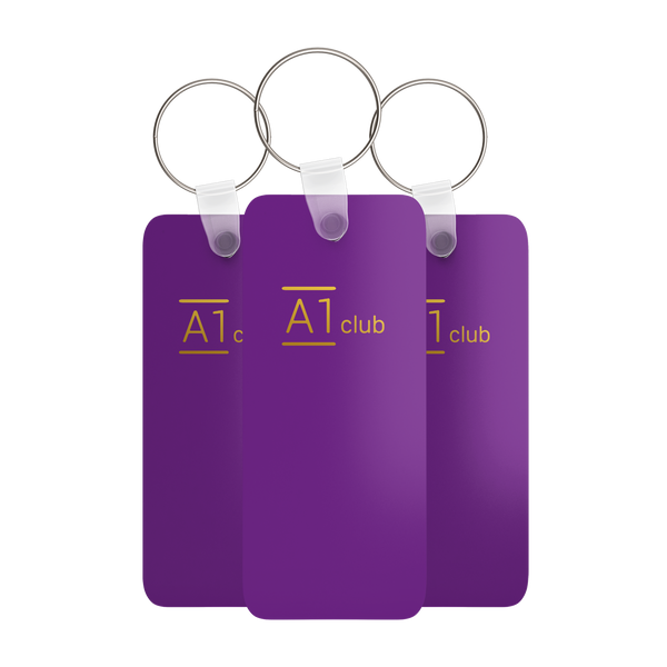 A1 Classic Key Rings - Purple & Gold