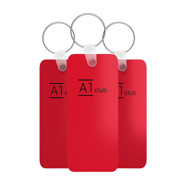 A1 Classic Key Rings - Red & Black