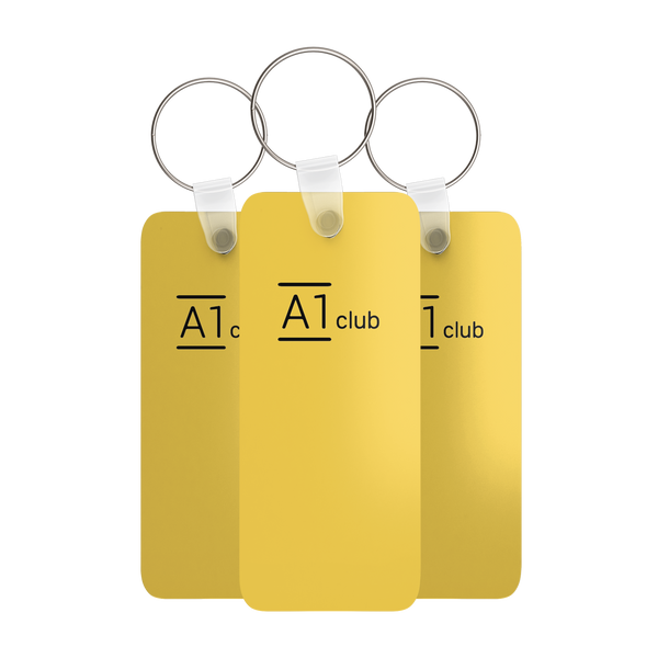 A1 Classic Key Rings - Yellow & Black