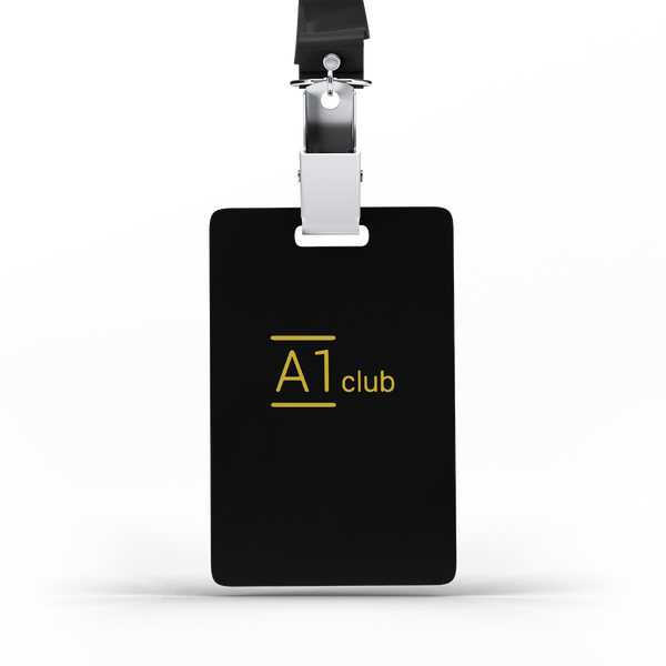 A1 Classic Lanyard Card - Black & Gold
