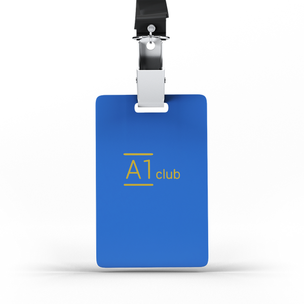 A1 Classic Lanyard Card - Blue & Gold