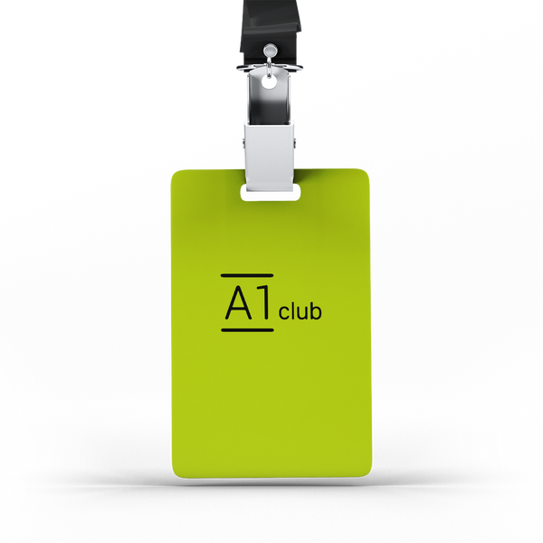 A1 Classic Lanyard Card - Green & Black