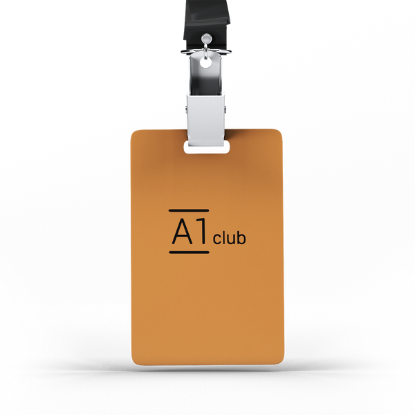 A1 Classic Lanyard Card - Orange & Black