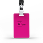 A1 Classic Lanyard Card - Pink & Black