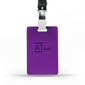 A1 Classic Lanyard Card - Purple & Black