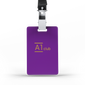 A1 Classic Lanyard Card - Purple & Gold