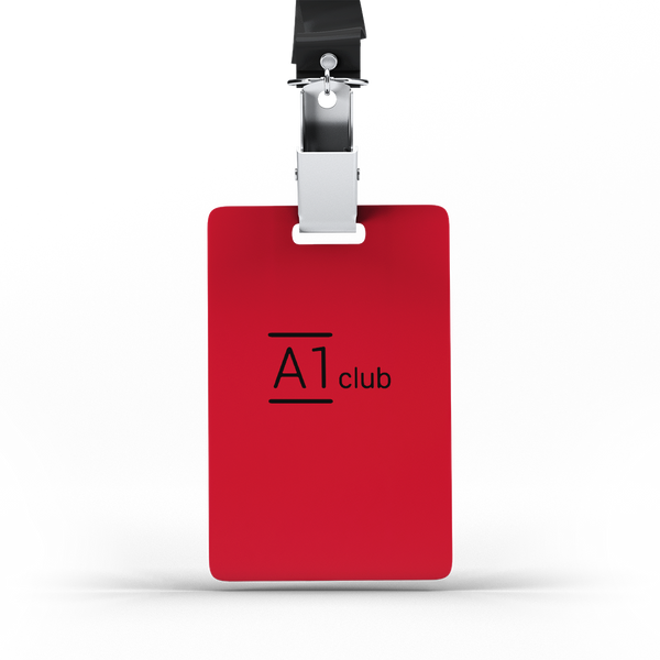 A1 Classic Lanyard Card - Red & Black