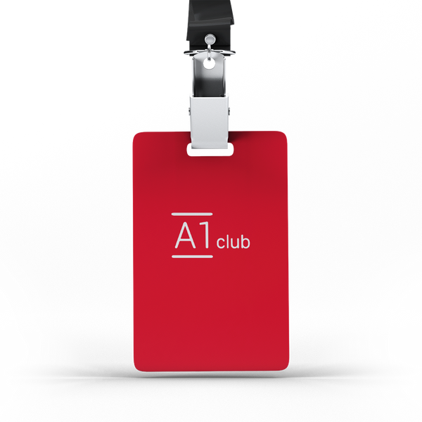 A1 Classic Lanyard Card - Red & White