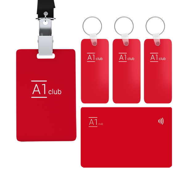 A1 Classic Card & Key Rings - Red & White