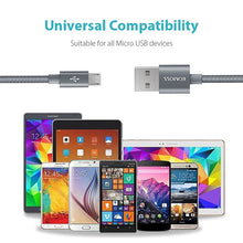 Load image into Gallery viewer, Romoss Micro USB to USB Nylon Braided 1m Cable Silver