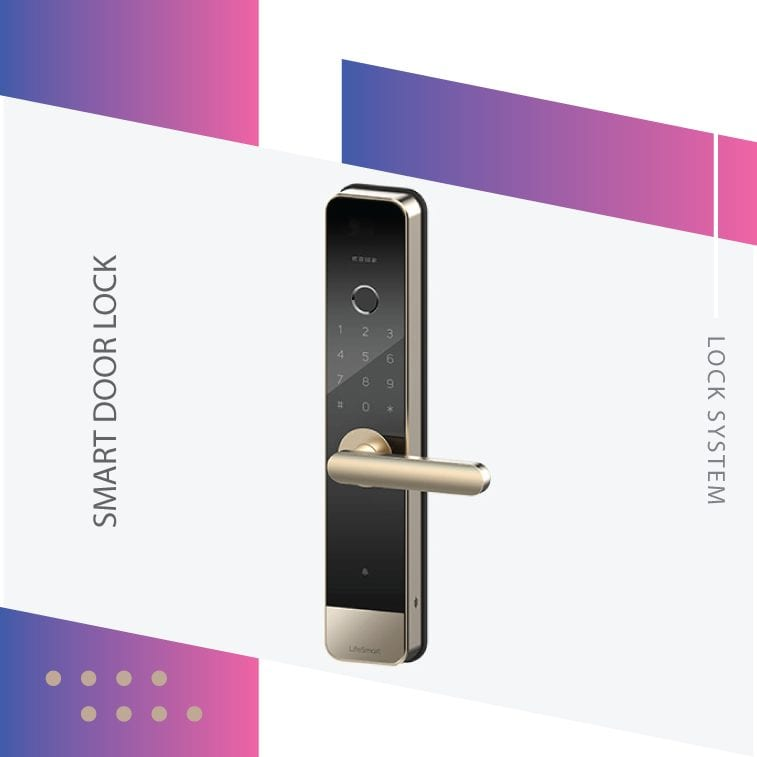 LifeSmart Video Smart Door Lock Features- Real time video call - Multiple ways for access (password