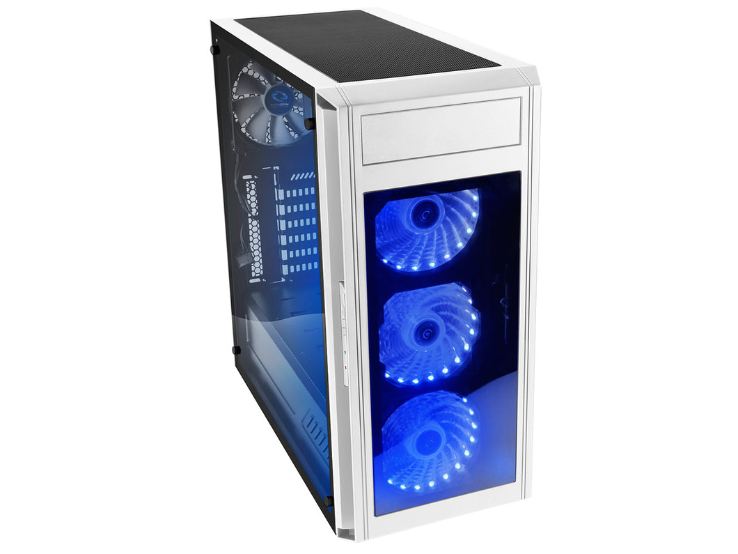 Raidmax Alpha Prime RGB LED Tempered Glass Side/Front (GPU 390mm) ATX Gaming Chassis White