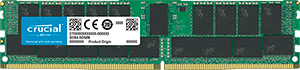 Crucial 32GB DDR4 2666MHz Dual Rank ECC Registered Dimm