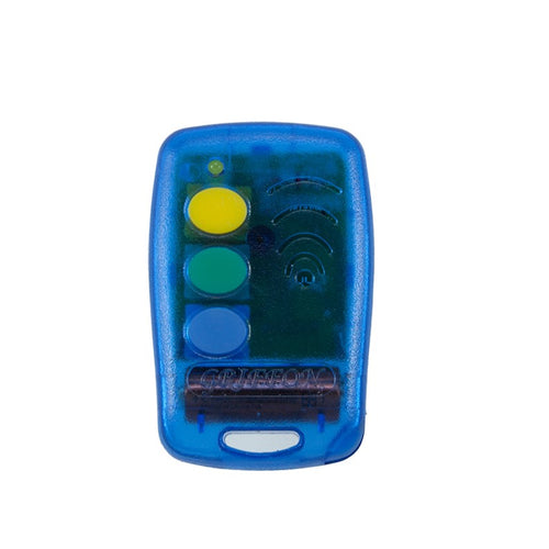Griffon 3 button blue 433mHz remote transmitter