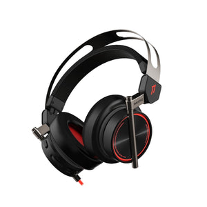 1MORE SPEARHEAD VRX Over-Ear 3D 7.1 Stereo Surround Sound|Dual Mic Noise Cancellation|LED|PC/PS4/Xbox/Android Gaming Headset Black