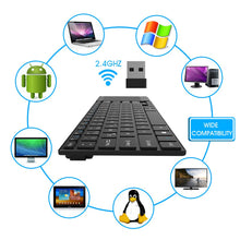 Load image into Gallery viewer, Rii QWERTY Touchpad 10Keyless Keyboard Touch Volume Control Black
