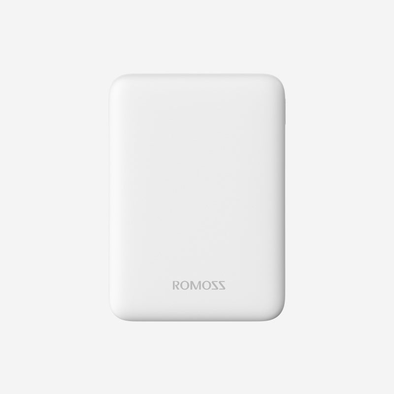Romoss Pure 5 5000mAh Input_ Micro USB|Output: 2 x USB Power Bank White