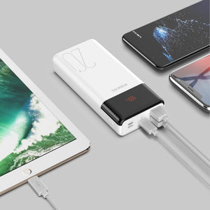 Romoss LT20PS+ 20000mAh Input_ Type-C|Lightning|Micro USD|Output: Type-C|2 x USB Power Bank - White