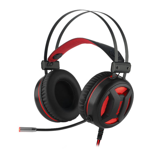 Redragon MINOS 7.1 Virtual|50mm Driver|Omnidirectional Mic|LED Lighting|USB Gaming Headset