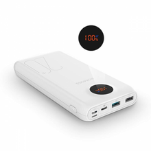 Load image into Gallery viewer, Romoss SW20 Pro 20000mAh Input_ QC3.0 Type C|Lightning|Micro USB|Output:2 x USB Power Bank White