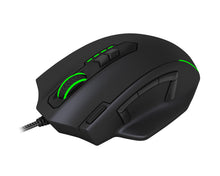 Load image into Gallery viewer, T-Dagger Major 8000DPI 10 Button|180cm Cable|Ergo-Design|RGB Backlit Gaming Mouse - Black/Green