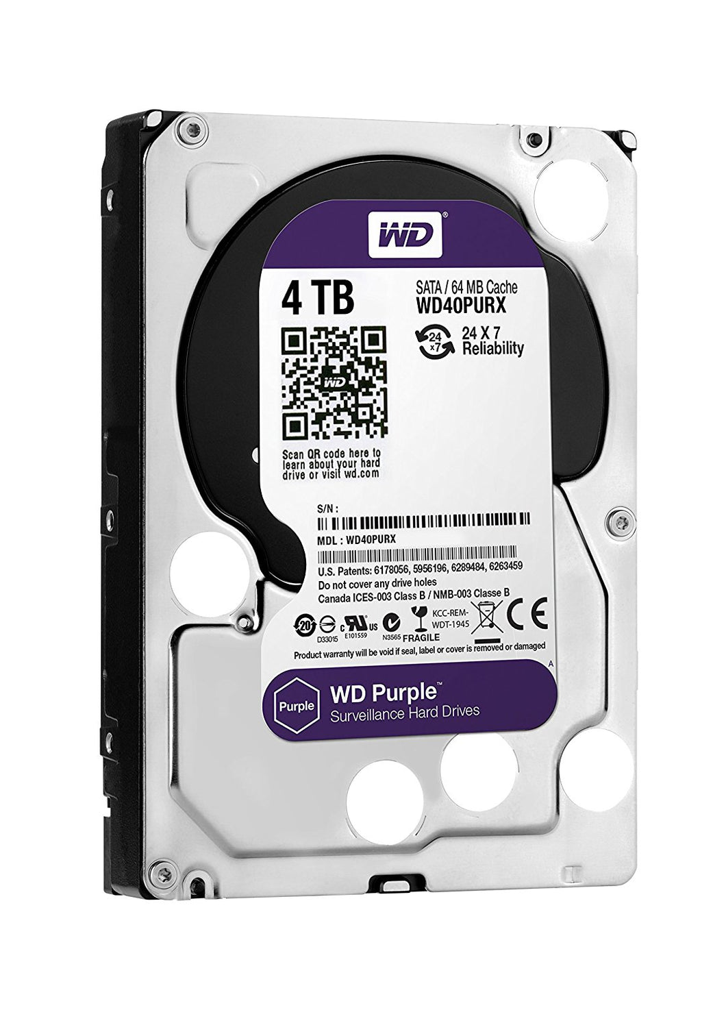 WD Purple 4TB 3.5 SATA 64MB