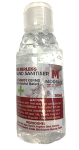 Hand sanitizer 100ml Gel - Moosa's