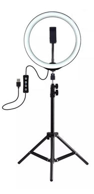 "Selfie Ring Light 10"" with Tripod Stand & Cellphone Holder"