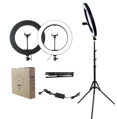 "Selfie Ring Light 18"" with Tripod Stand & Cellphone Holder"