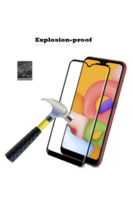 Samsung Galaxy A01 Tempered Glass Screen Guard Full Glue