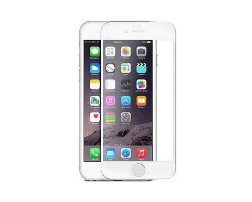 CellTime™ Full Tempered Glass Screen Protector for iPhone 6 Plus - White