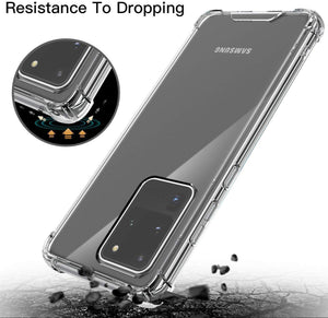 Samsung Galaxy S20 Ultra Clear Shock Resistant Armor Cover