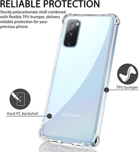 CellTime™ Galaxy A52 Clear Shock Resistant Armor Cover
