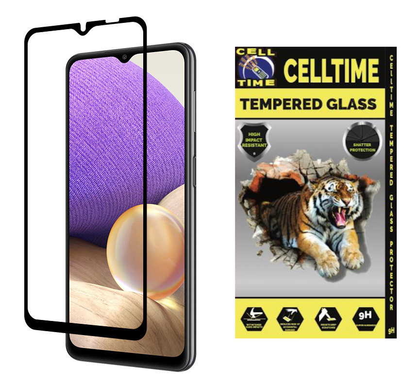 CellTime™ Full Tempered Glass Screen Guard for Galaxy A32 4G/LTE