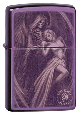 Zippo Lighter - Anne Stokes High Polish Purple