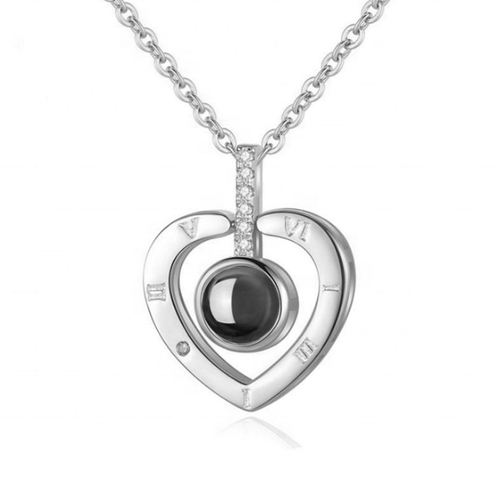 Diva I Love You Necklace with 100 Languages I Love You Eye