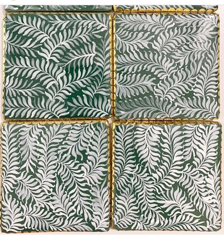Forest Fern coasters set of 5 by Bowerbird