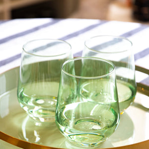 Stemless Wine Glasses by Estelle Coloured Glass
