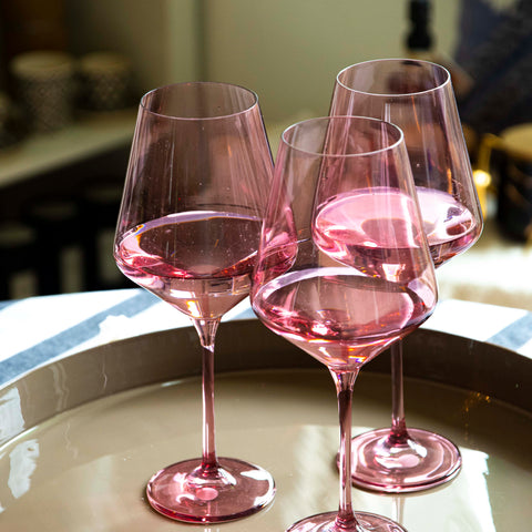 Wine Stemware by Estelle Coloured Glass