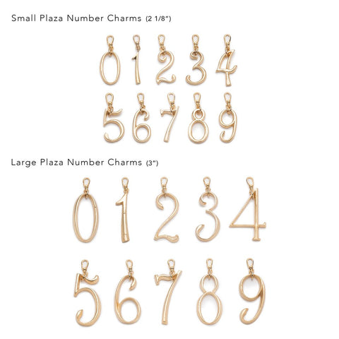 Plaza Large Numbers by LuLu Frost