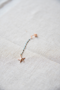 Rose gold sea inspired single earring